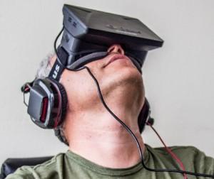 Sergey Orlovsky wearing an Oculus Rift