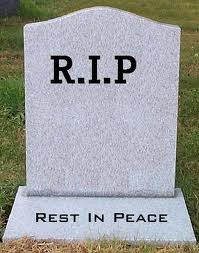 """Gravestone saying """"Rest in Peace"""""""