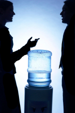 People talking by a Water Cooler