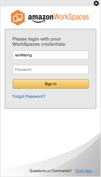 AWS Workspaces Login
