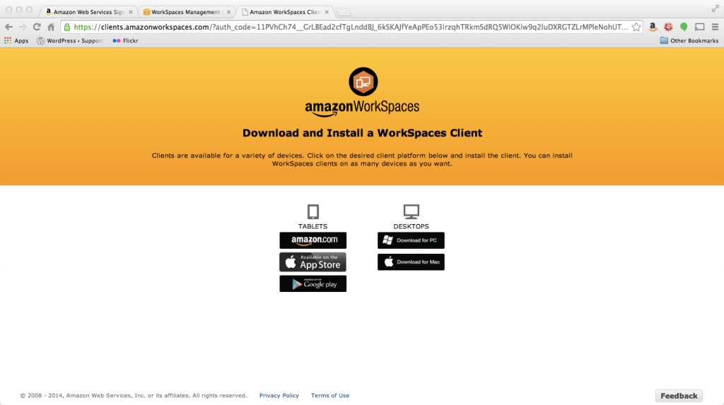 AWS Workspaces Client Setup