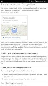 """Google Now """"Where did I Park my Car?"""" Card"""