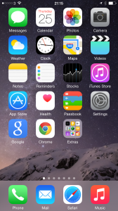 Ian Waring iPhone 6+ HomeScreen