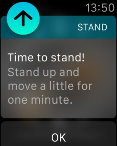 Apple Watch Stand Up!